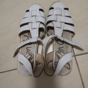 White, leather summer sandals